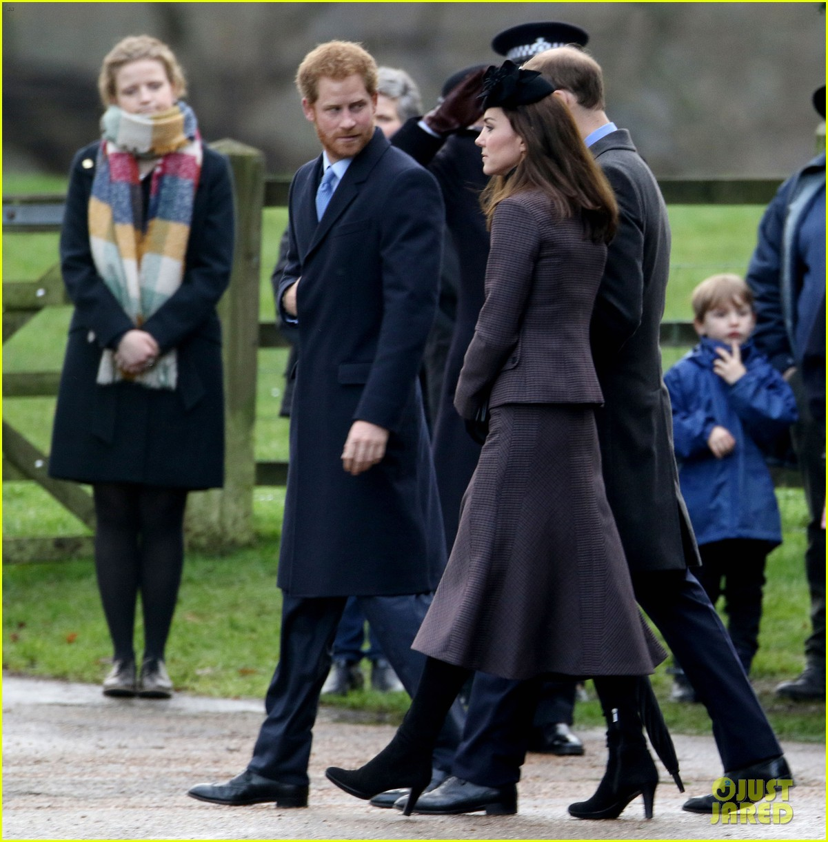 prince william kate middleton attend post christmas service - Kate Middleton Christmas