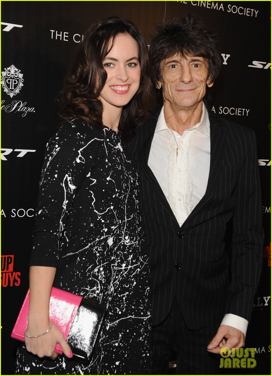 rolling stones ronnie wood is expecting twins with wife sally 113525569