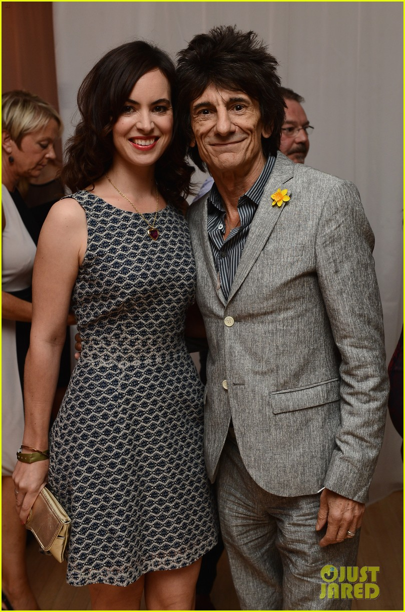 rolling stones ronnie wood is expecting twins with wife sally 153525573