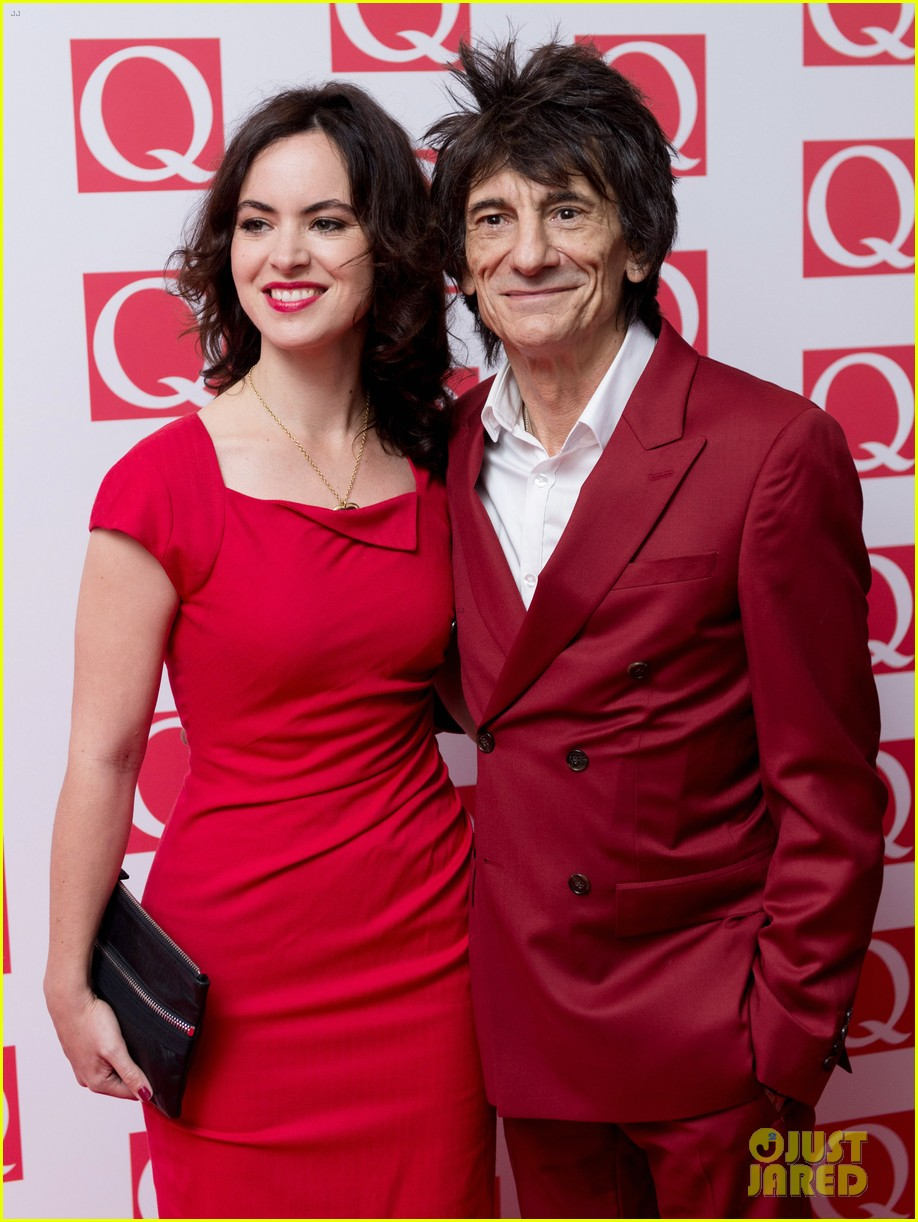 rolling stones ronnie wood is expecting twins with wife sally 183525576
