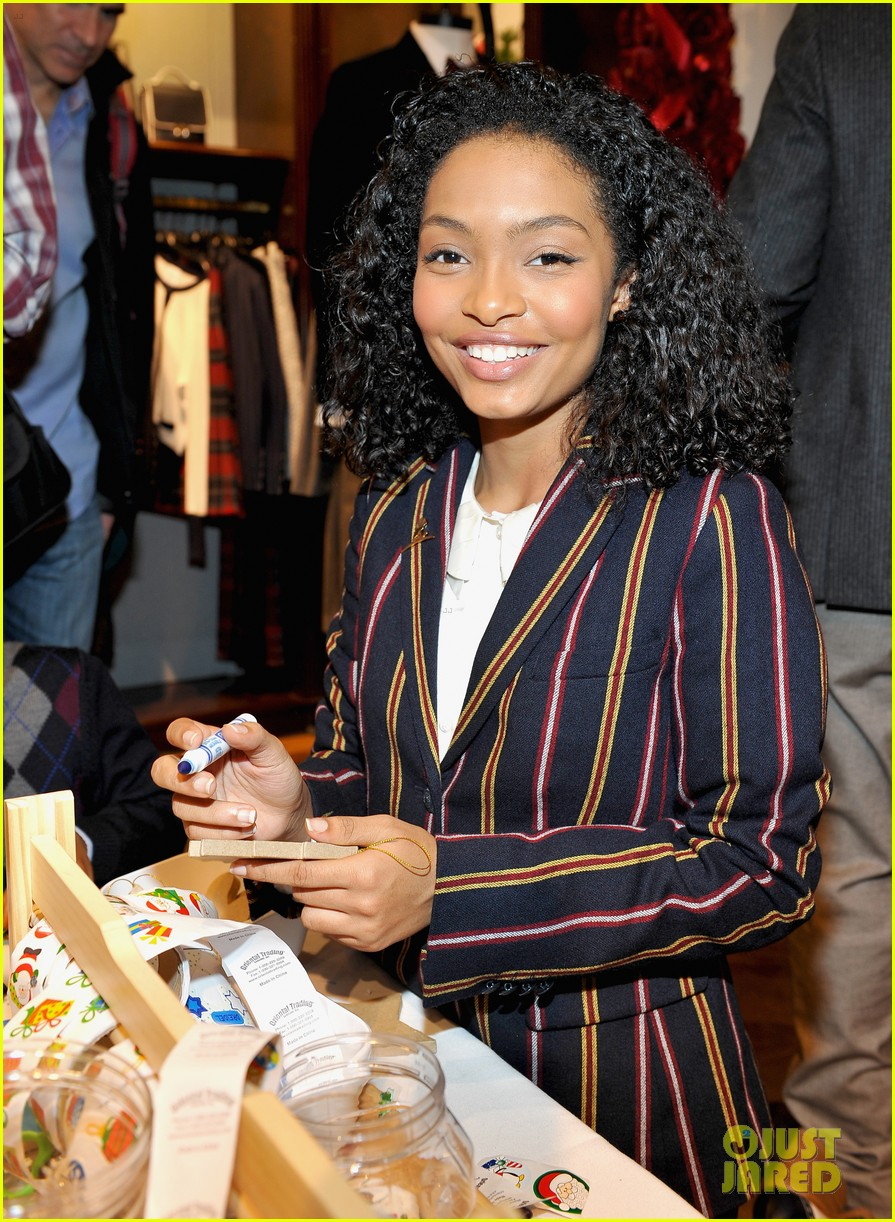 ashley tisdale yara shahidi more brooks brothers st jude holiday event 013523979