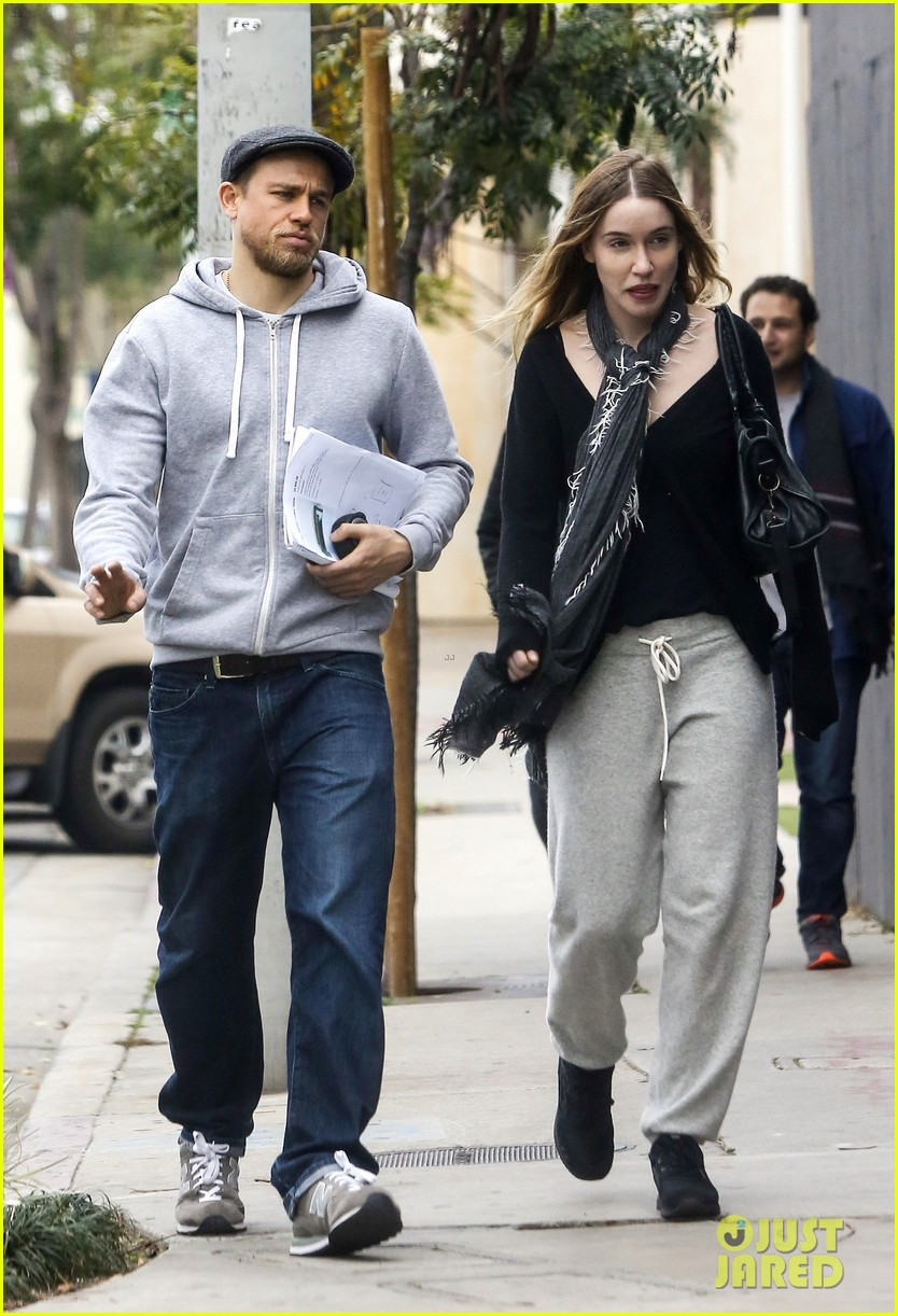 Theme interesting, Charlie hunnam and his wife
