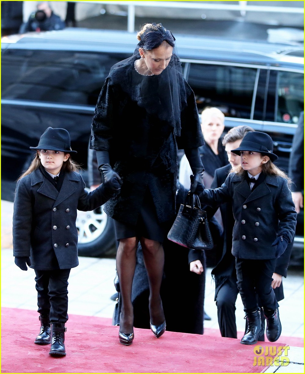 Celine dion twins at funeral