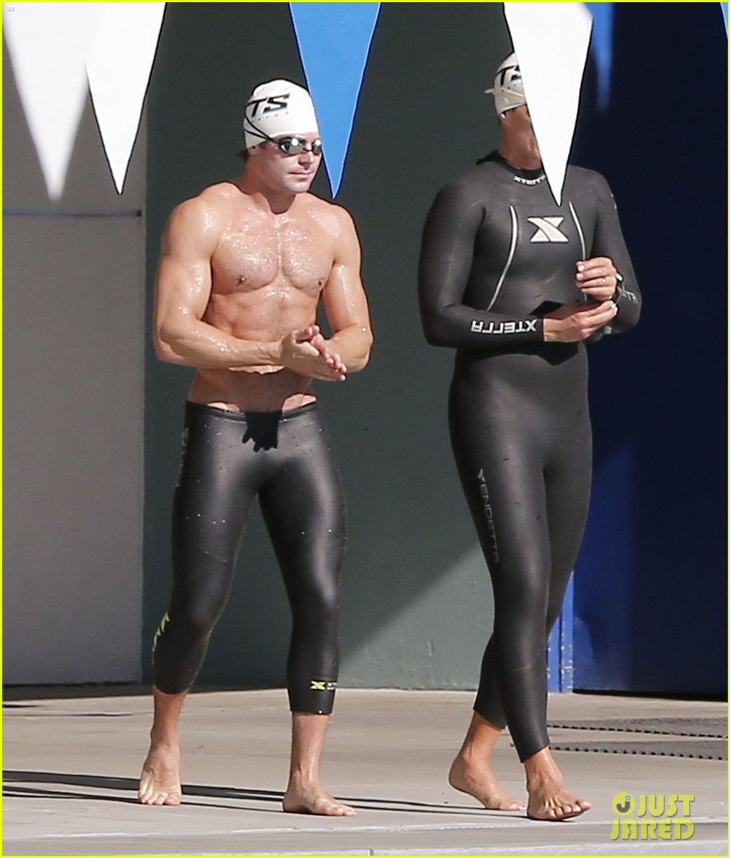 zac efron goes shirtless for baywatch swimming lessons 213557858