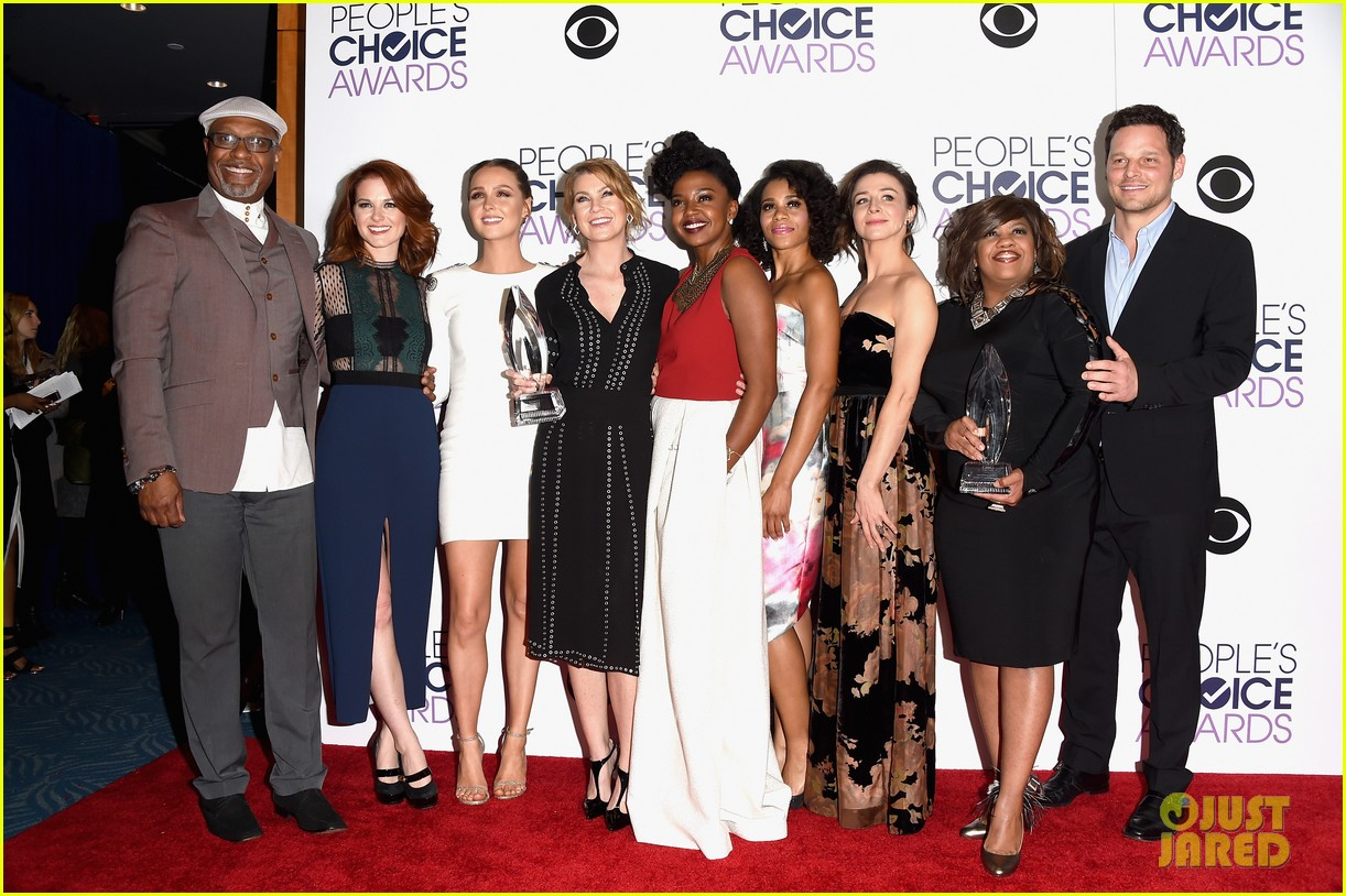 Ellen Pompeo Greys Anatomy Cast Win Favorite Network Tv Drama