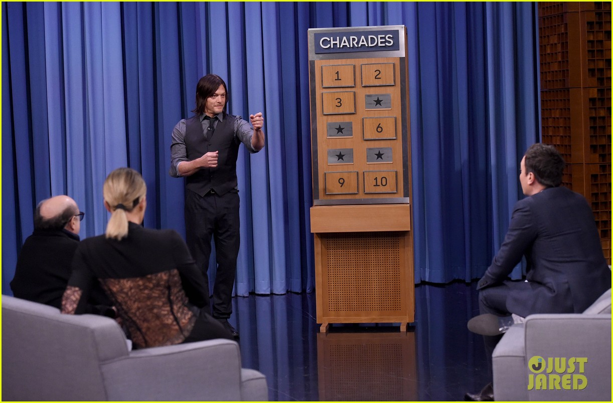 b14a3330f8c6d Khloe Kardashian Plays Charades with Norman Reedus   Danny DeVito - Watch  Here!