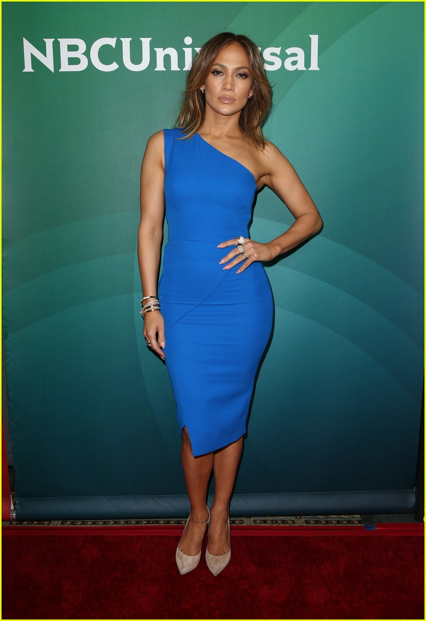 jennifer lopez wears blue while promoting shades of blue 013551958