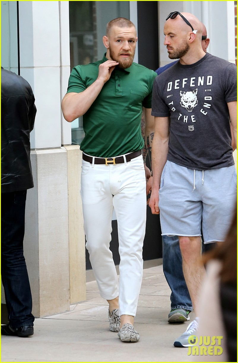 ufc conor mcgregor shows off fashion cred on rodeo drive 143558395