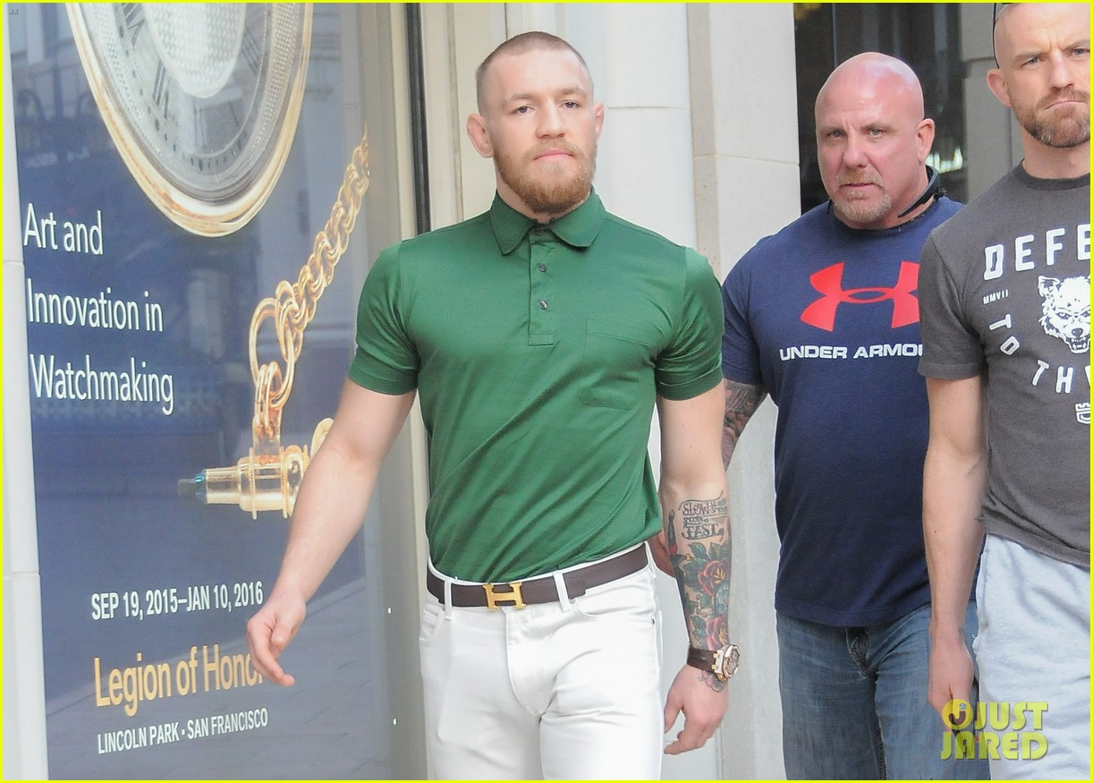 ufc conor mcgregor shows off fashion cred on rodeo drive 323558413