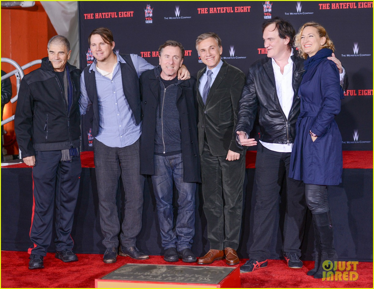 channing tatum christoph waltz support quentin tarantino at hands footprints ceremony 023544247