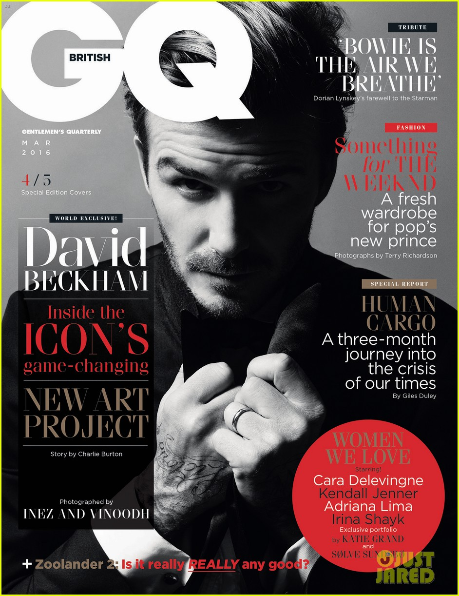 32438aa3d7 David Beckham Sports 5 Different Looks for  British GQ  Covers ...
