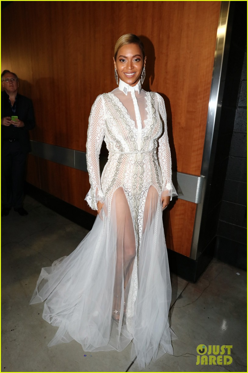 Beyonce Stuns in Sheer White Gown at Grammys 2016: Photo 3580146 ...