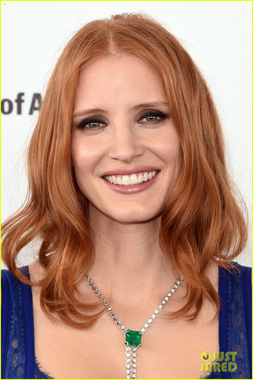 jessica chastain is a blue beauty at independent spirit awards 2016