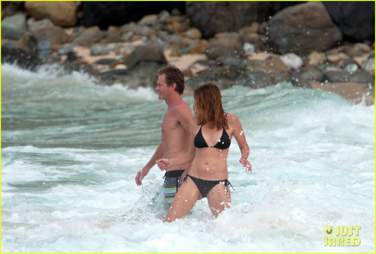cindy crawford bares bikini body in st barts with rande gerber 093583126