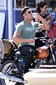 zac efron films baywatch on motorcycle 17
