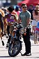 zac efron films baywatch on motorcycle 44