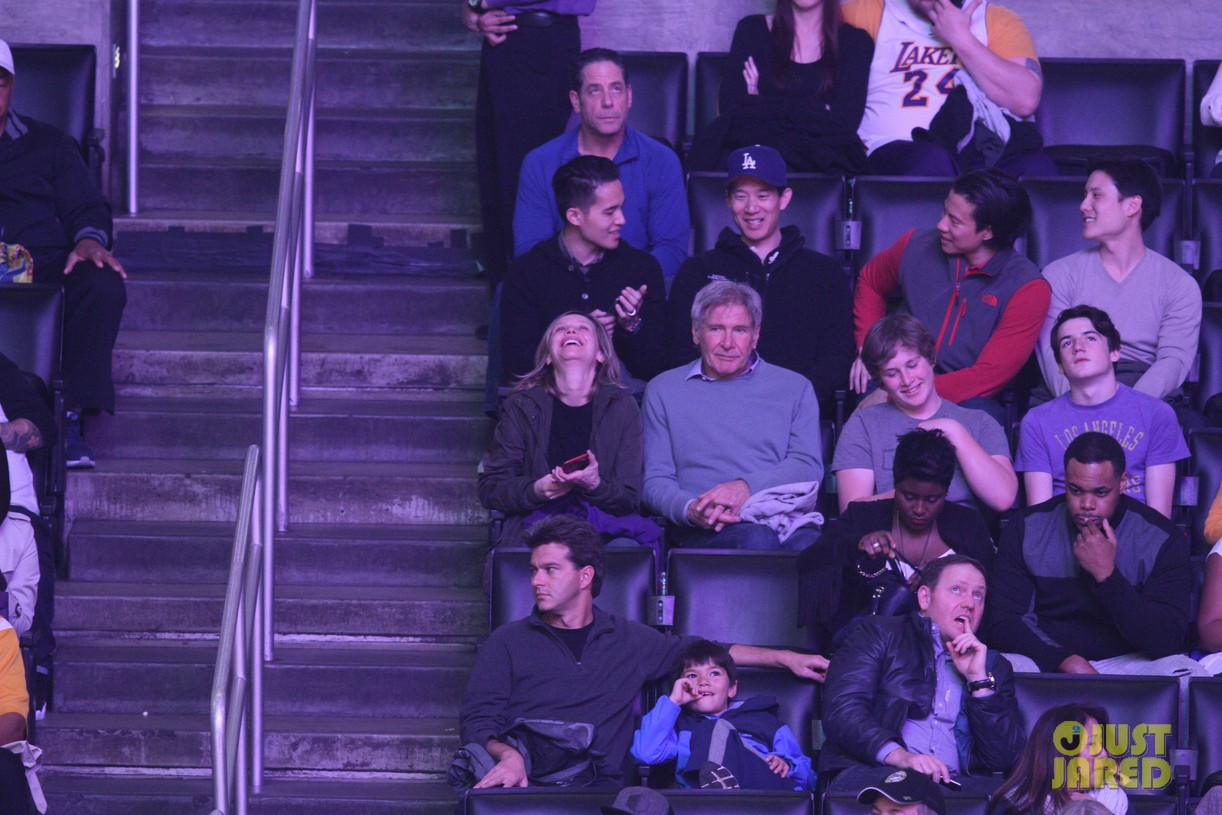 harrison ford calista flockhart lakers game 103567387
