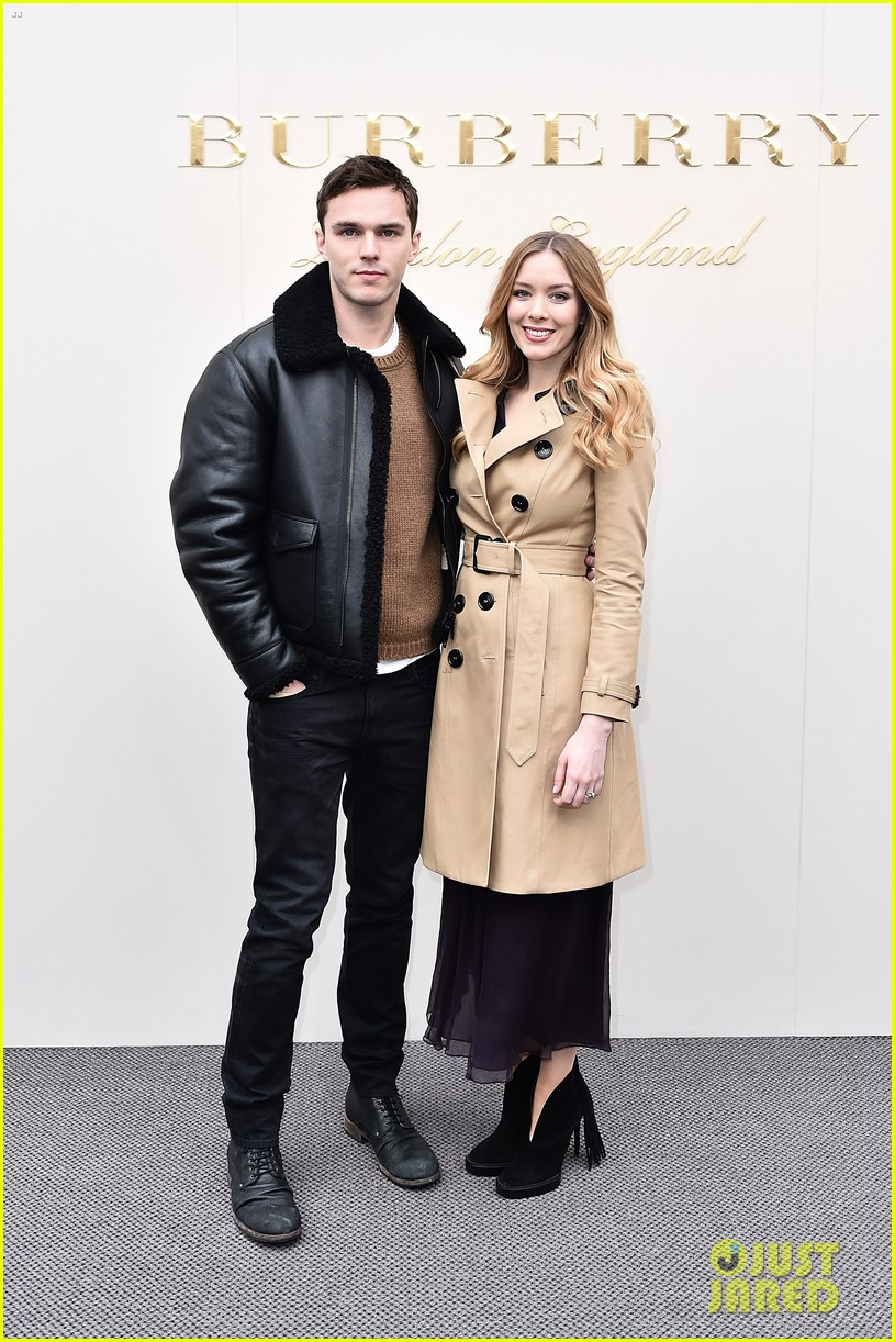 nicholas hoult brings sister rosanna to burberry womenswear fashion show 123585860