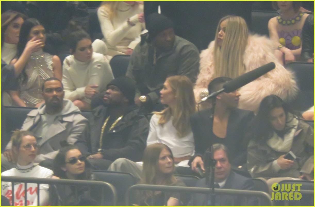 949d727fa0 Kim Kardashian Goes Blonde at Kanye West s Yeezy Show!  Photo ...