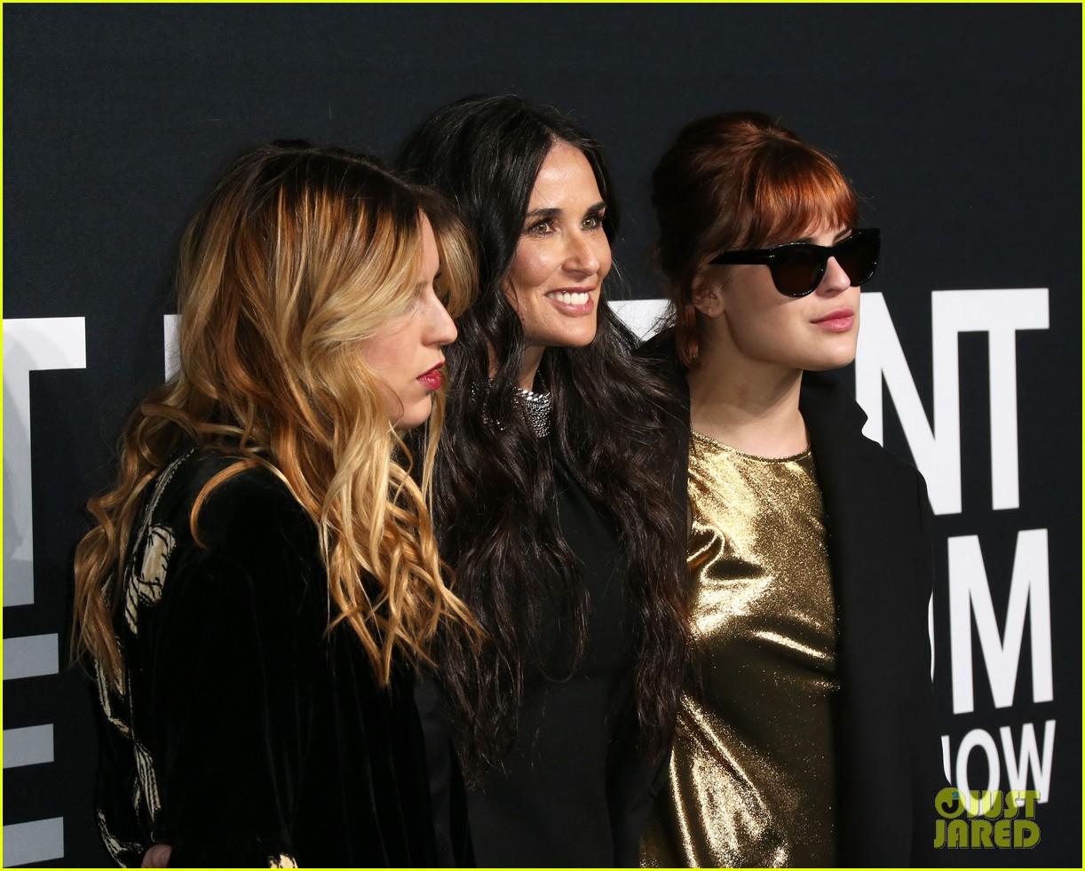 Miranda Kerr Steps Out for Saint Laurent Show Alongside Demi