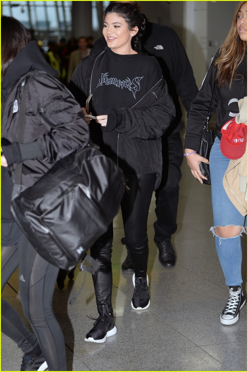 Kylie Jenner Steps Out In Adidas Just After Puma Deal Announcement