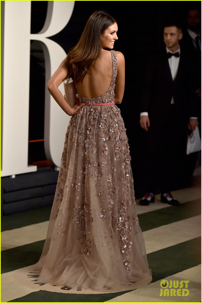 Nina Dobrev Lily Collins 2016 Vanity Fair Oscars Party 15 on oscar go contact us