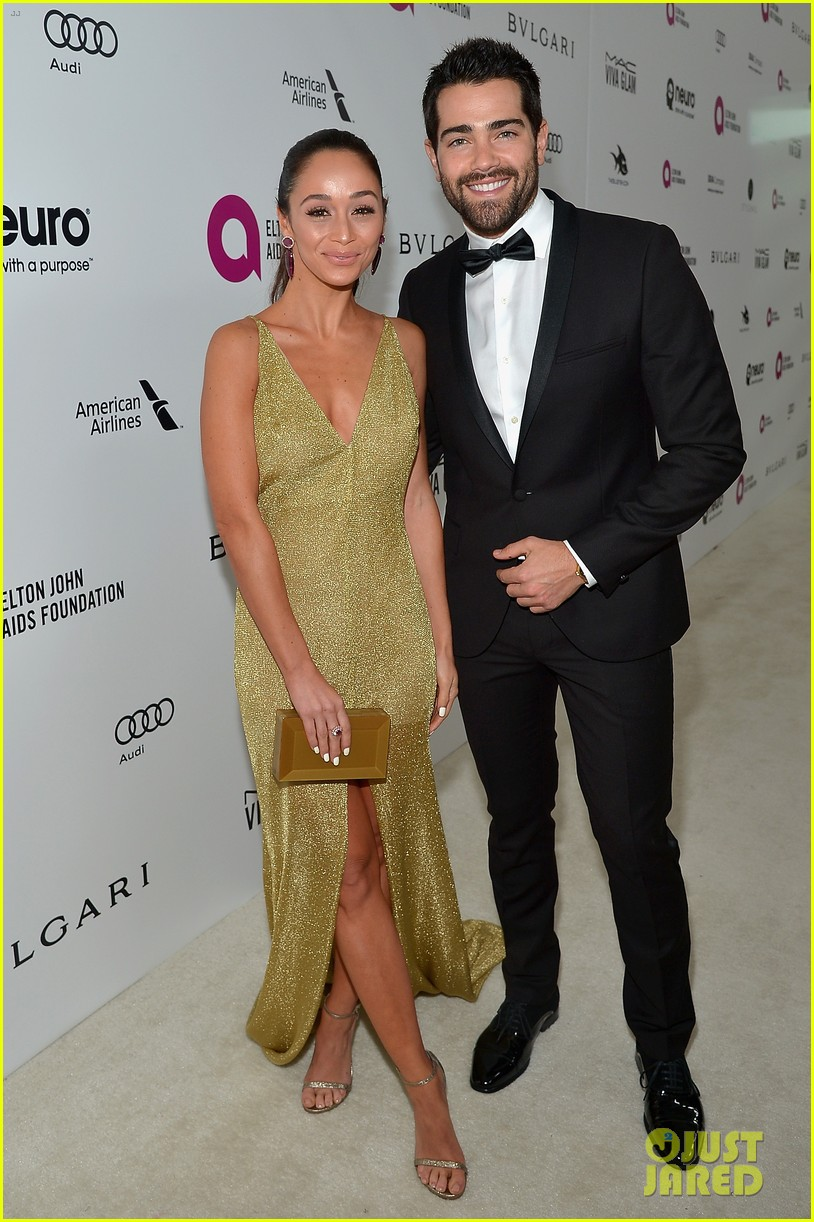ashlee simpson evan ross couple up at elton johns oscar party 283593360