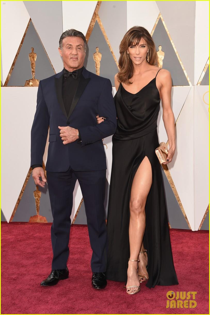 Sylvester Stallone & Wife Jennifer Flavin Attend Oscars ...
