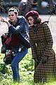 brad pitt marion cotillard filming london 05