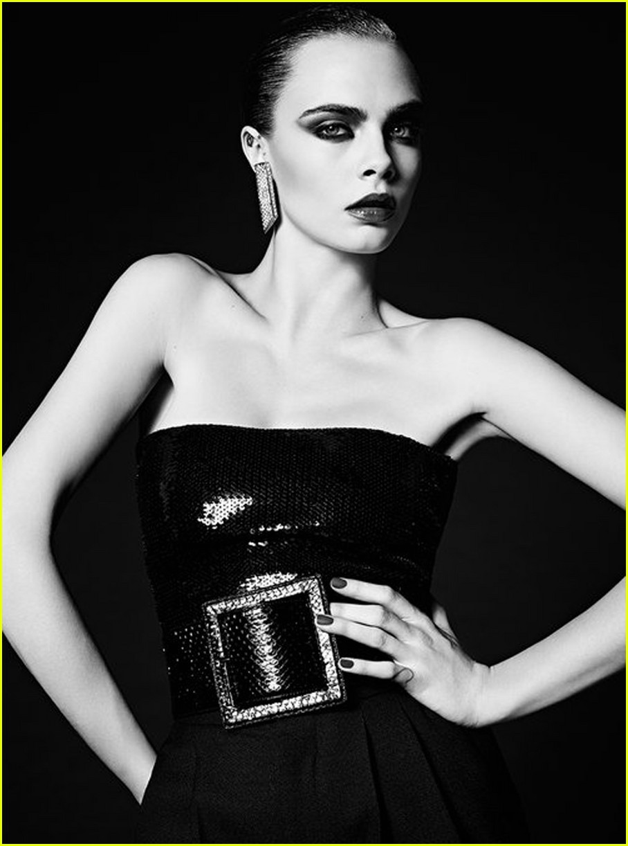 Cara Delevingne Makes Surprise Return To Modeling With Saint Laurent