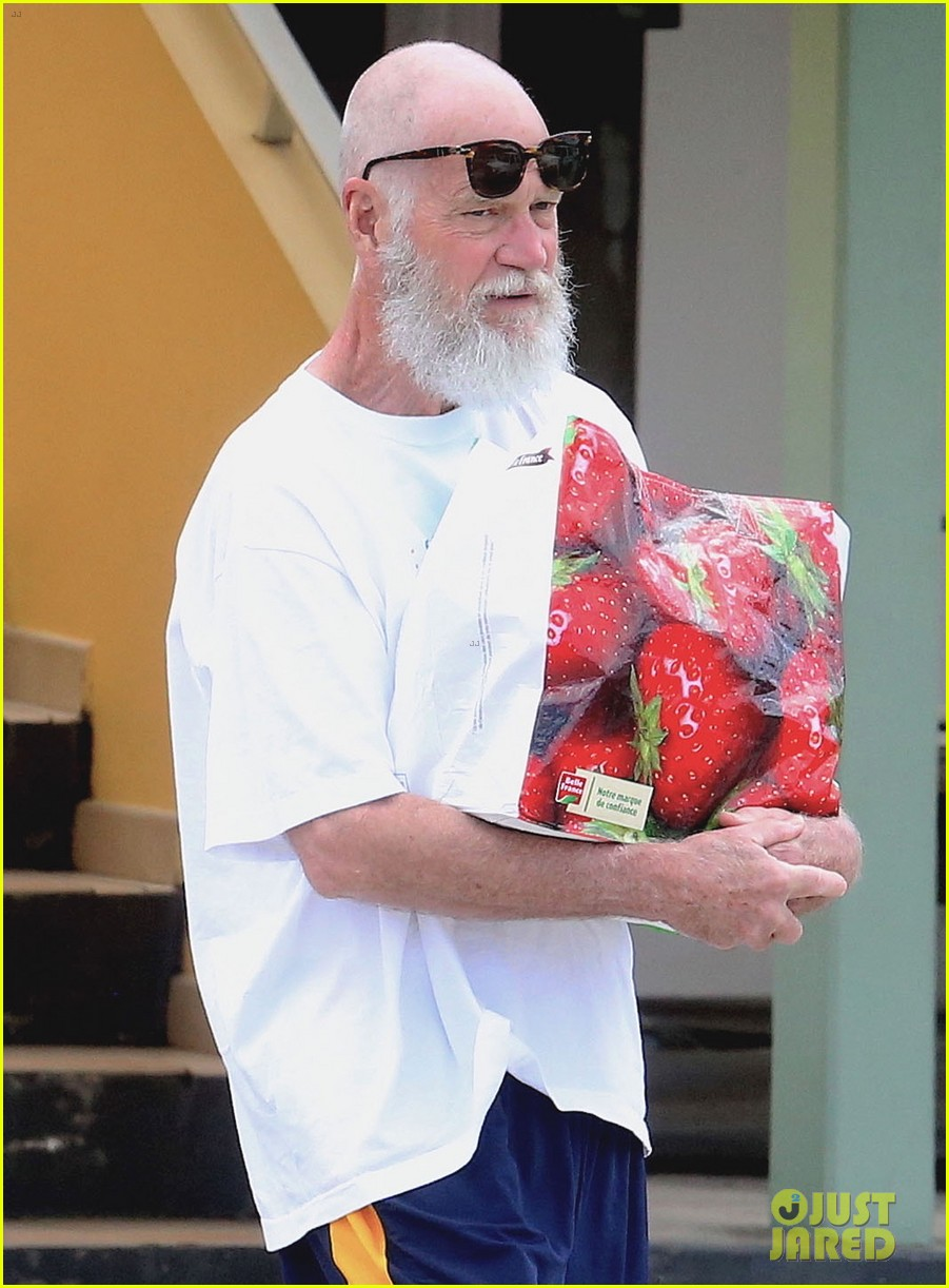 David Letterman Is Totally Bald  U0026 Bearded In St  Barts