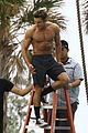 zac efron goes shirtless for tarzan like baywatch moment 11