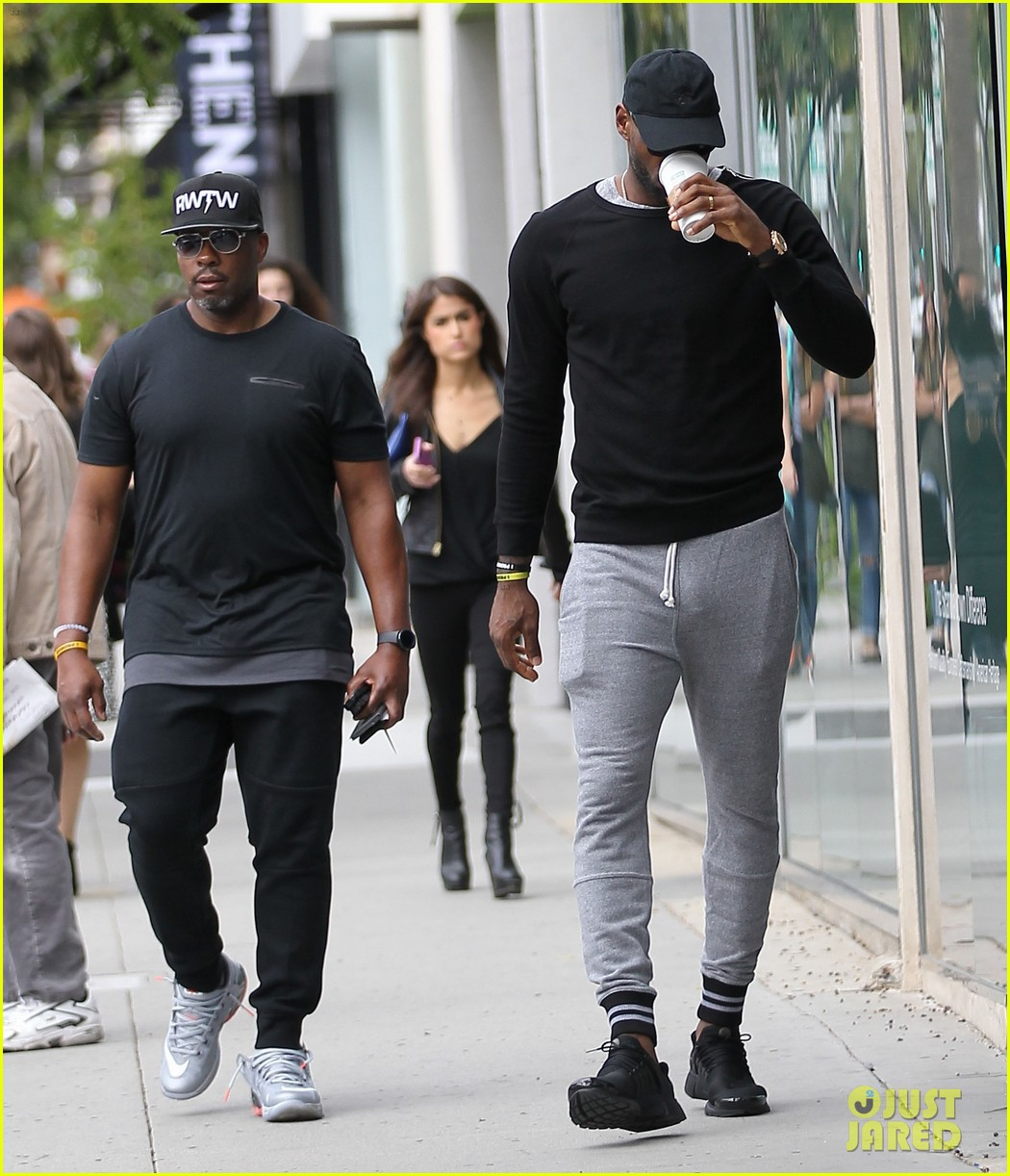 lebron james steps out in very tight sweatpants photo