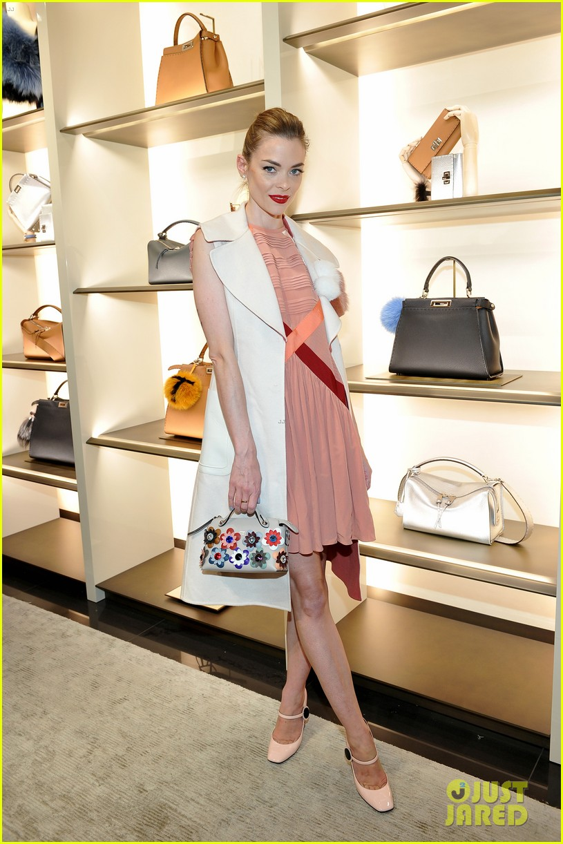 jaime king haim sisters hang out at fendi store opening 053614251