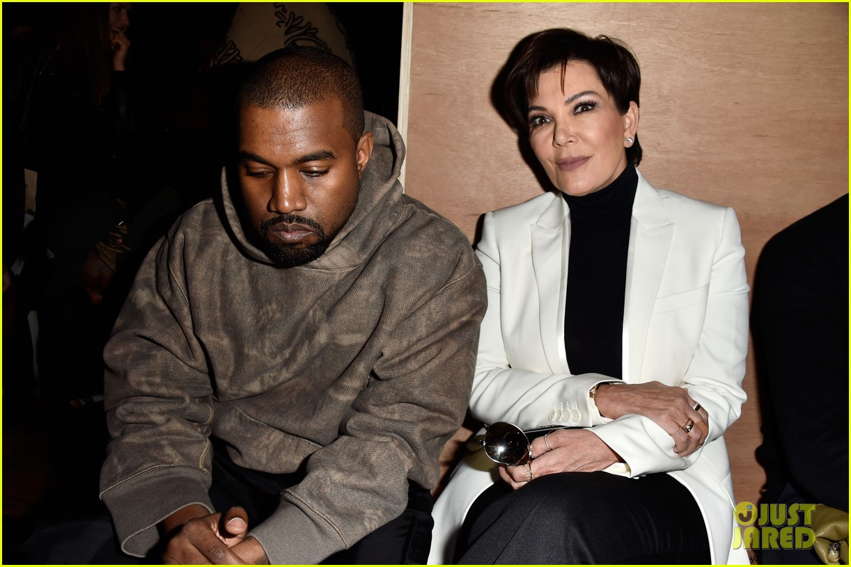 kris jenner kanye west givenchy show front row 013598843
