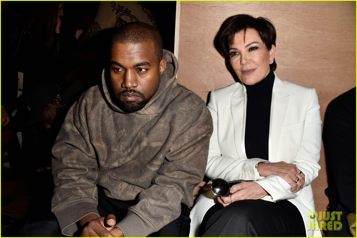 kris jenner kanye west givenchy show front row 293598871