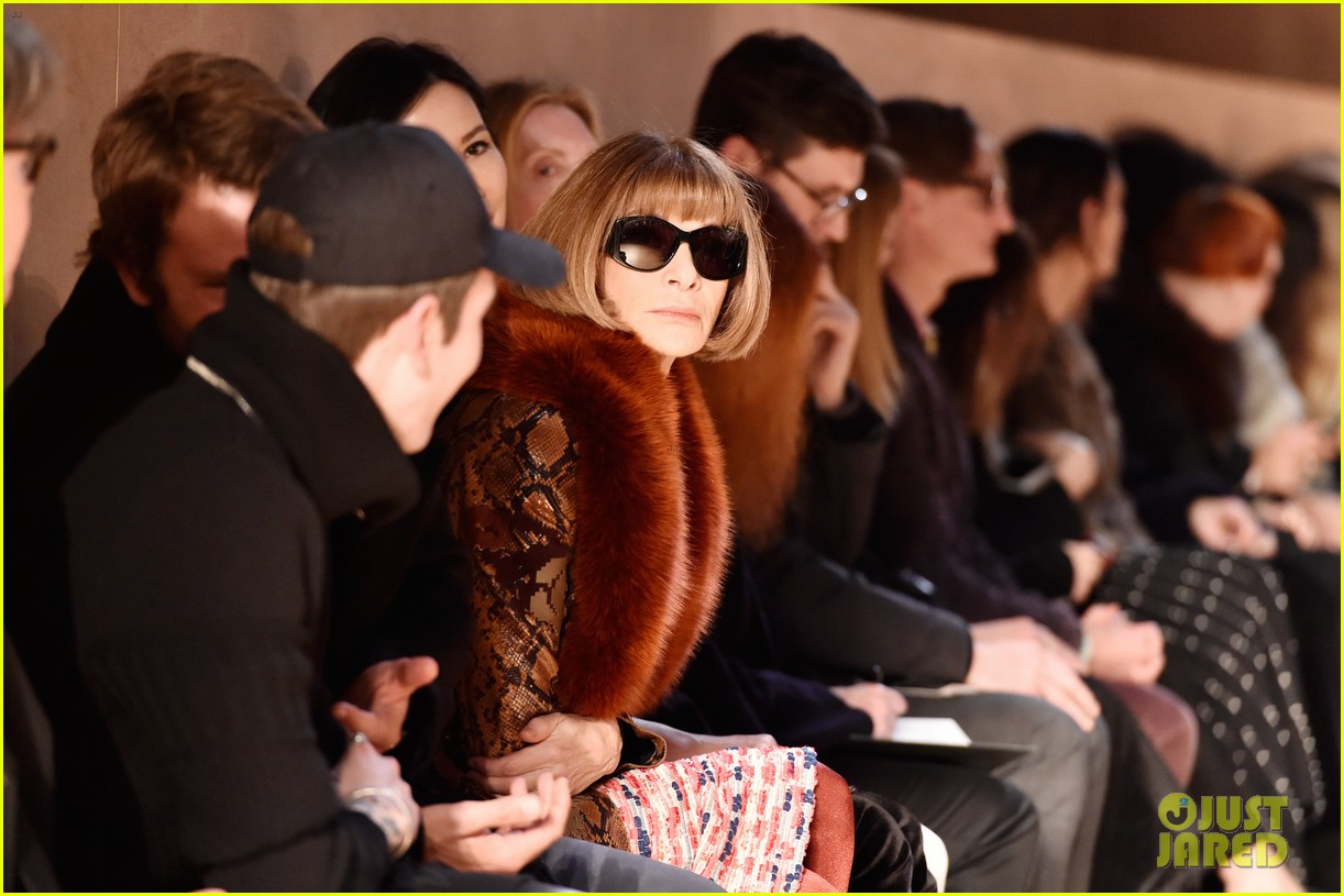 kris jenner kanye west givenchy show front row 323598874