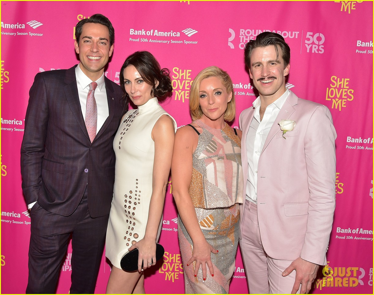zachary levi jane krakowski get star studded support at she loves me broadway 033608751