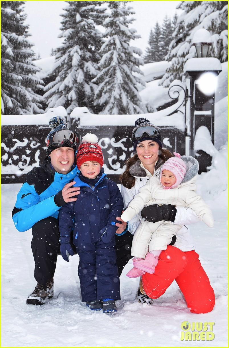 prince william kate middleton family ski trip george charlotte 013599424
