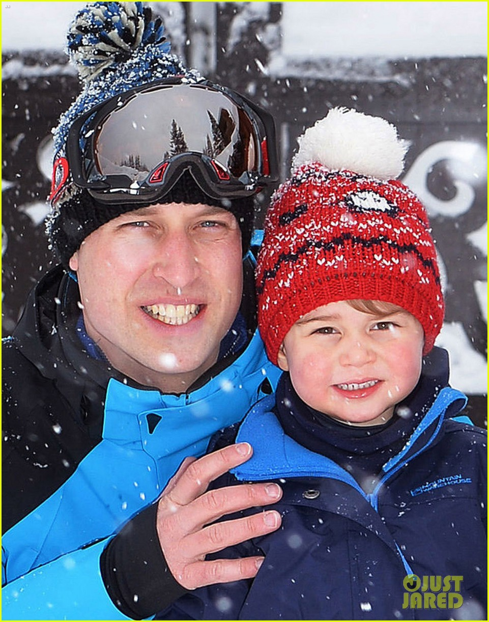 prince william kate middleton family ski trip george charlotte 063599429