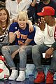 miley cyrus knicks game brandi courtside 15