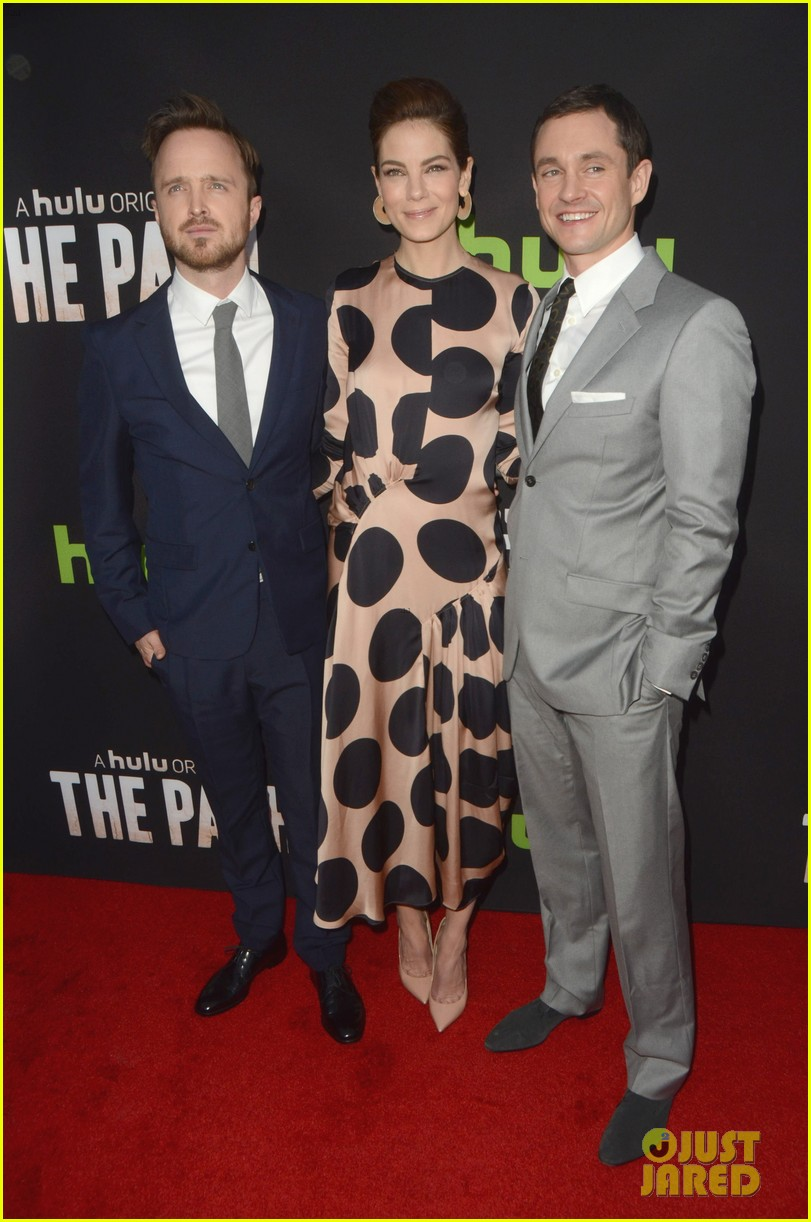 aaron paul hugh dancy michelle monaghan team up at the path premiere 023611559