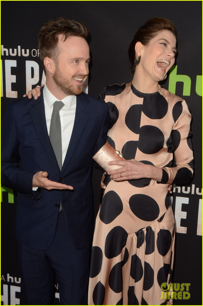 aaron paul hugh dancy michelle monaghan team up at the path premiere 193611576