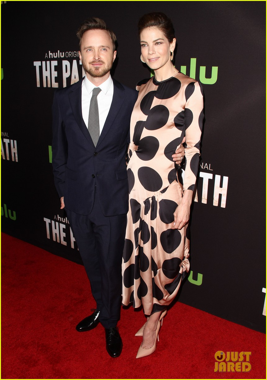 aaron paul hugh dancy michelle monaghan team up at the path premiere 383611595