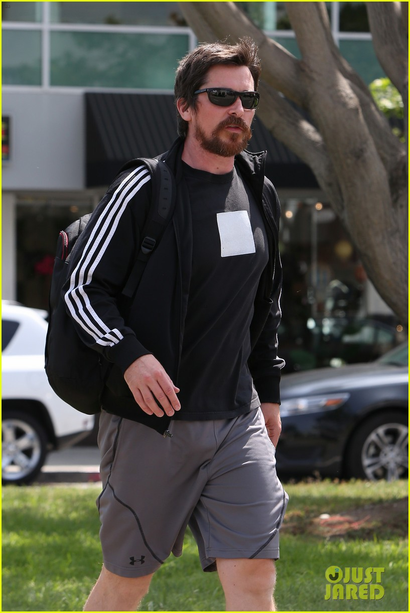 christian bale steps out in his workout gear for a meeting 103632306