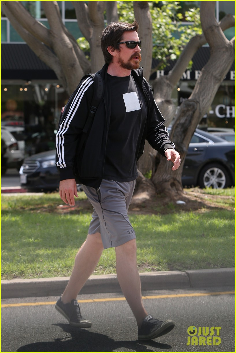 christian bale steps out in his workout gear for a meeting 123632308
