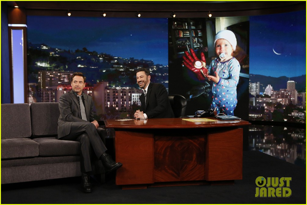 robert downey jr team cap jimmy kimmel 013630606