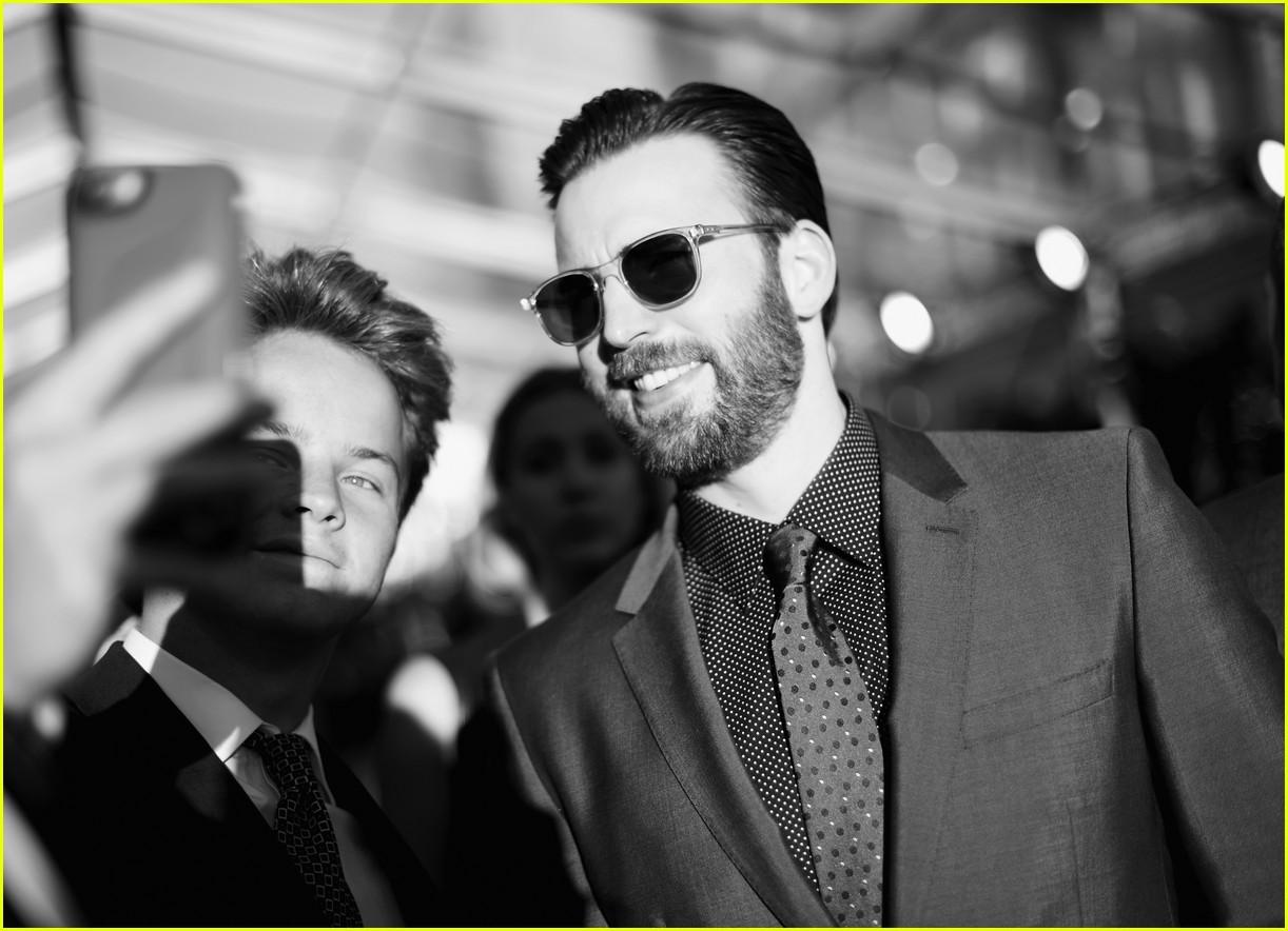 Chris Evans & Sebastian Stan Rep Team Cap at 'Civil War
