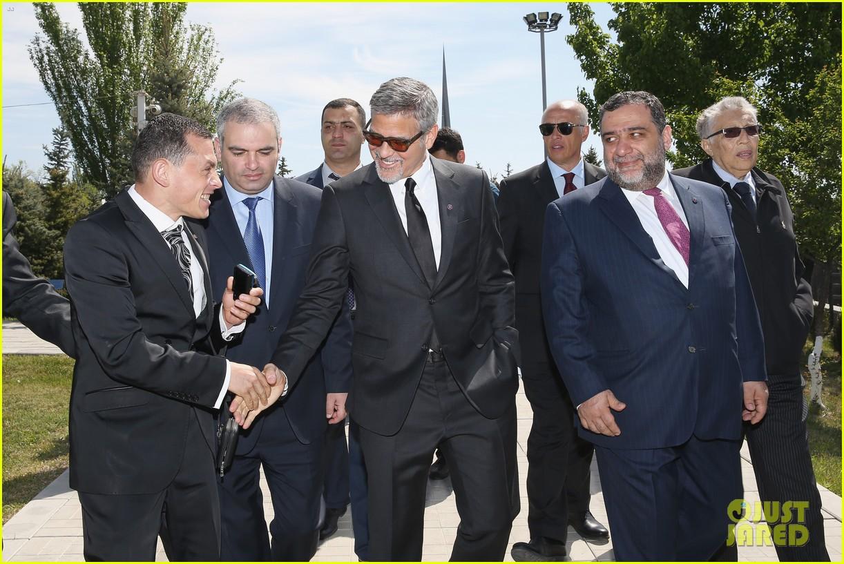 george clooney genocide memorial armenia 013638905