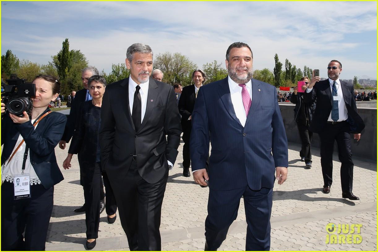 george clooney genocide memorial armenia 073638911
